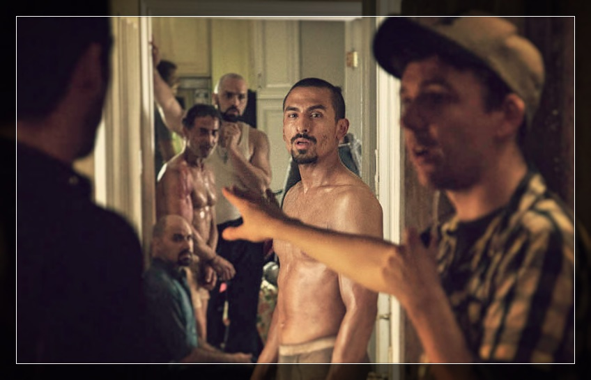 Paulino Nunes, michael reventar, and Carlos Gonzalez Vio on set Kidnap Capital